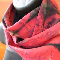 Scarves featured at Mackerel Sky Gallery of Contemporary Craft
