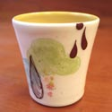 Lollipop Pottery shotglass featured at Mackerel Sky Gallery of Contemporary Craft