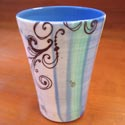 Lollipop Pottery tumbler featured at Mackerel Sky Gallery of Contemporary Craft
