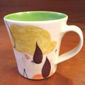 Lollipop Pottery mug featured at Mackerel Sky Gallery of Contemporary Craft