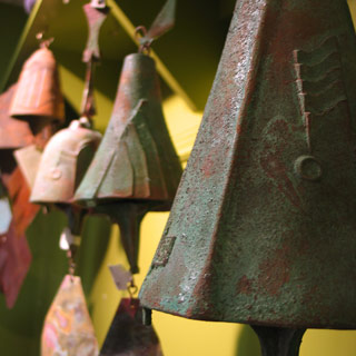 Bells and chimes featured at Mackerel Sky Gallery of Contemporary Craft
