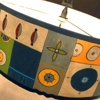 Lamps featured at Mackerel Sky Gallery of Contemporary Craft