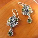 Earings by jeweler Patricia Locke featured at Mackerel Sky Gallery of Contemporary Craft