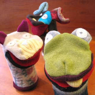 Cate & Levi puppets featured at Mackerel Sky Gallery of Contemporary Craft