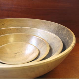 Gary Rednour wooden bowls featured at Mackerel Sky Gallery of Contemporary Craft